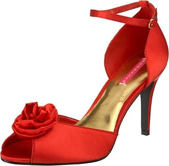 Glamour-Sandaletten Rosa-02 by Bordello Red Satin 41/42 EU