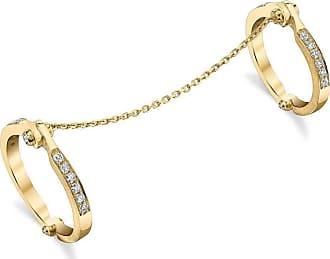 Borgioni Handcuff Chain Ring in Yellow Gold - UK N 1/2 - US 6 3/4 - EU 54 1/2