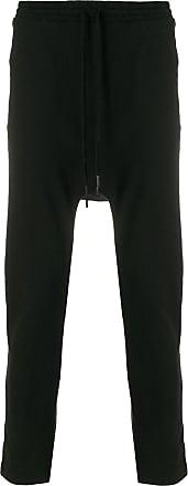 printed back drop-crotch trousers - Black Boris Bidian Saberi