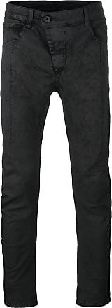 drop-crotch slim-fit trousers - Black Boris Bidian Saberi
