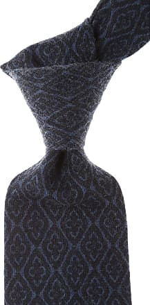 Ties On Sale, Grey Blue Melange, Wool, 2017, one size Borrelli Napoli