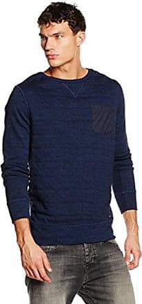 HUGO BOSS Boss Orange Ztripe, Sweat-Shirt Homme, (Dark Blue), X-Large