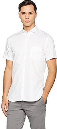 Cattitude-Short 10197950, Camisa Para Hombre, Blanco (White), Large HUGO BOSS