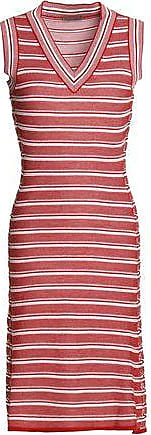 Bottega Veneta Woman Crocheted Wool Dress Brick Size 42 Bottega Veneta