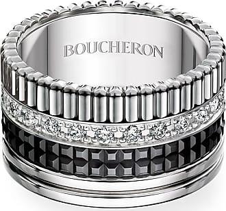 Boucheron Large Black Edition Diamond Quatre Band, Size 54