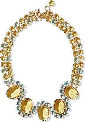 Bounkit Bounkit Woman Gold-tone Quartz And Labradorite Necklace Gray Size