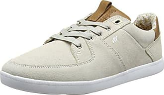 CLADD INC SDE/Lea Off WHT/Tan, Sneakers Basses Homme - Blanc - Weiß (Off White/Tan), 41Boxfresh