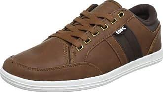 British Knights KUNZO - Zapatos con cordones de material sintético hombre, color marrón, talla 41