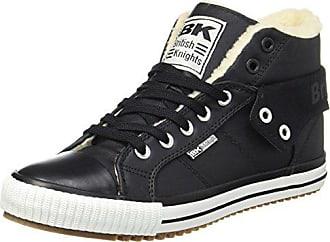 British Knights Roco, Sneaker a Collo Alto Uomo, Schwarz (Black/Union Jack), 46 EU