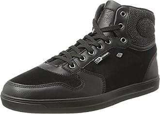 British Knights Ranger, Sneaker a Collo Alto Uomo, Nero (Black/Dk Grey/Black 02), 42 EU