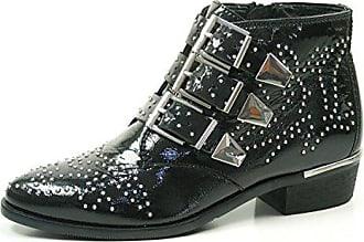 Bronx Damen Ankle Boots, schwarz, Gr. 39