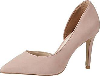 Coast 191-017357 - Zapatos de Tacón con Punta Cerrada de Sintético Mujer, Color Rosa, Talla 38