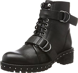 Bronx 46855-E, Santiags Femme - Multicolore - Multicolore (Black/Gunmetal 188), 38 EU