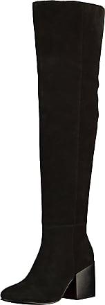 Bronx »Veloursleder« Overkneestiefel, schwarz, EURO-Größen, schwarz