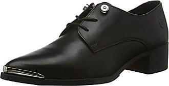 GiudeccaJY16R20-R38 - Zapatos Planos con Cordones Mujer, Color Negro, Talla 37