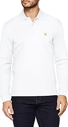 Brooks Brothers Maniche Lunghe, Polo Homme, Bianco (White 100), XXL