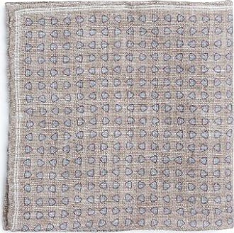 Geometric-print linen-blend pocket square Brunello Cucinelli