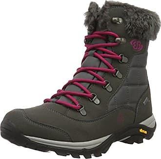 Mount Bona, Zapatos de High Rise Senderismo para Mujer, Gris (Grau/Türkis Grau/Türkis), 36 EU Brütting