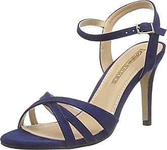 Moda in Pelle - Sandalias de Vestir para Mujer Azul Azul Marino, Color Azul, Talla 36 EU