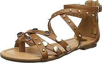 Buffalo Shoes Damen 315721 Gm S10213 Leather PU Römersandalen, Braun (Tan 01), 39 EU