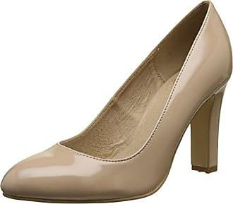 Buffalo Shoes Damen H733C-117 P2010F PU Patent Pumps, Beige (Beige 01), 36 EU