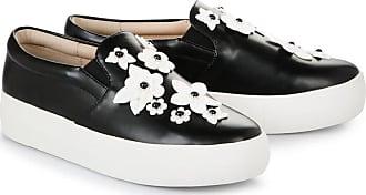 Slip on Buffalo noires à décorations fleuriesBuffalo