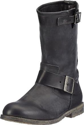 Buffalo London 13980 Washed Leather 106343, Bottes femme - Noir-TR-GS, 41 EU