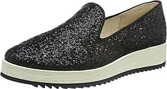 Buffalo David Bitton Buffalo Shoes 15Bu0091 Glitter PU, Mocassins Femme, (Black 01), 39 EU