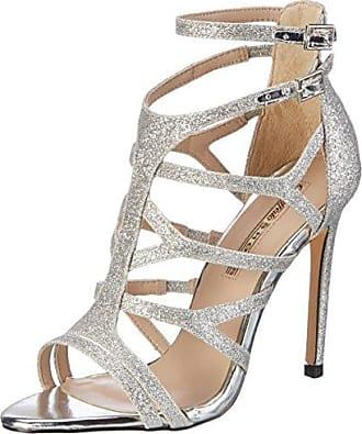 SHOWHOW Damen Glitzer Peep-Toe Cut Out High Heels Partyschuhe Sandalen Gold 39 EU