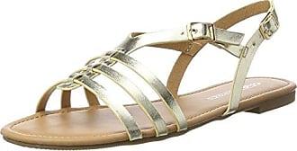 Buffalo Shoes 315721 Gm S10213 Leather PU, Spartiates Femme, Marron (Tan 01), 40 EUBuffalo David Bitton
