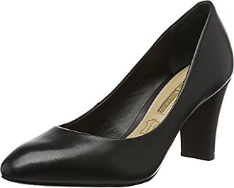 Buffalo London Damen 11197-336 Kid Suede Pumps, Schwarz (Black 01), 36 EU