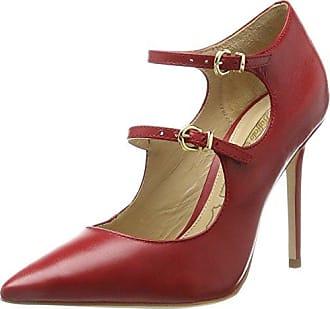 63042, Zapatos de Tacón con Punta Cerrada para Mujer, Rojo (Burdeos), 39 EU Refresh