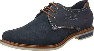 311419021111, Zapatos de Cordones Derby para Hombre, Azul (Dark Blue/Grey), 45 EU Bugatti