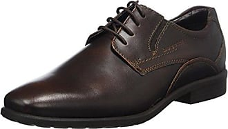 322409026932, Zapatos de Cordones Derby para Hombre, Gris (Dark Grey/Dark Grey 1111), 43 EU Bugatti