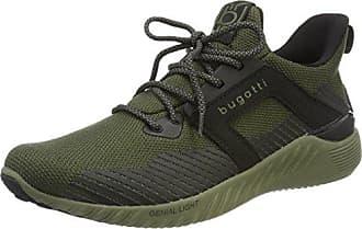 342394616959, Baskets Enfiler Homme, Vert (Green/Black), 44 EUBugatti