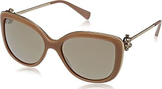Womens 0BV6092B 278/13 Sunglasses, Pale Gold/Burgundy/Browngradient, 57 Bulgari