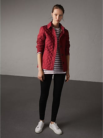 Burberry Red Quilted Jackets Now At Usd 59500 Stylight