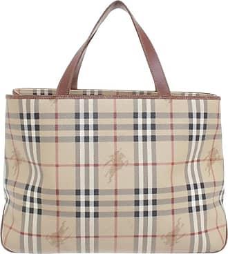 gebraucht - Handtasche mit Nova-Check-Muster - Damen - Andere Farbe - Leder Burberry