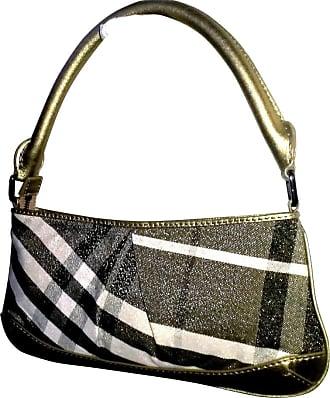 gebraucht - Vintage Handtasche - Damen - Braun - Canvas Burberry