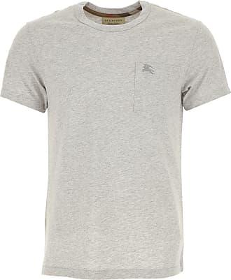 Camiseta de Hombre Baratos en Rebajas, Gris, Algodon, 2017, L M S XL Burberry