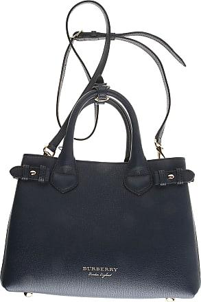 Top Handle Handbag On Sale, Dark Blue, Canvas, 2017, one size Burberry