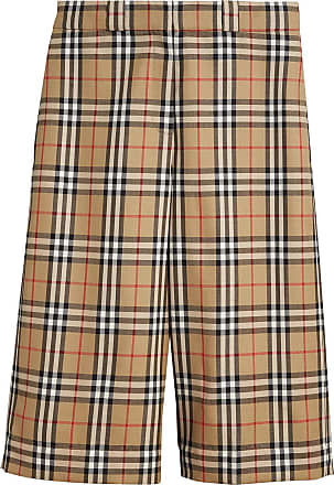 Vintage Check Wool Tailored Shorts - Yellow & Orange Burberry