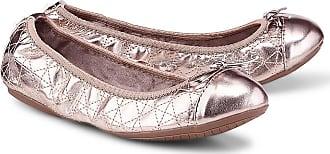 Damn Heels Foldable Ballerina Champagne Gold, Schuhe, Flache Schuhe, Ballerinas, Braun, Female, 36