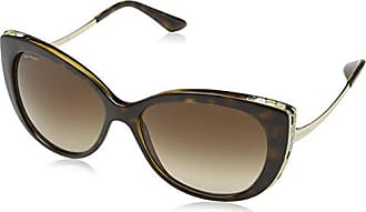 Womens 0BV8178 11115A Sunglasses, Turtledove/Lightbrownmirrordarkgold, 57 Bulgari
