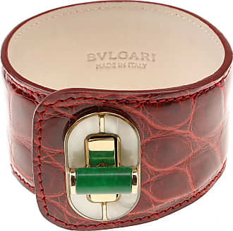 Bracelet for Women On Sale, Red, Leather, 2017, Universal Size Bvlgari