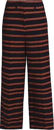 By Malene Birger Woman Striped Twill Wide-leg Pants Brown Size 30 By Malene Birger