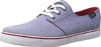 C1RCA Crip CRIP-BKWH - Zapatillas de deporte de lona para hombre, color rojo, talla 38 EU (5 Erwachsene UK)