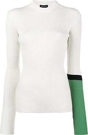 Rollkragenoberteil Aus Baumwoll-jersey Mit Stickerei - Weiß CALVIN KLEIN 205W39NYC