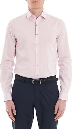 Chemise en twill de coton stretch slim fit Blanc Calvin KleinCalvin Klein