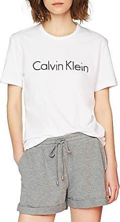 Calvin Klein S/s Crew Neck, Top de Pijama para Mujer, Negro (Black 001), 42 (Talla del Fabricante: Large)